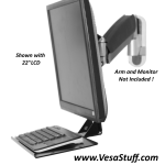 vesa mount keyboard tray