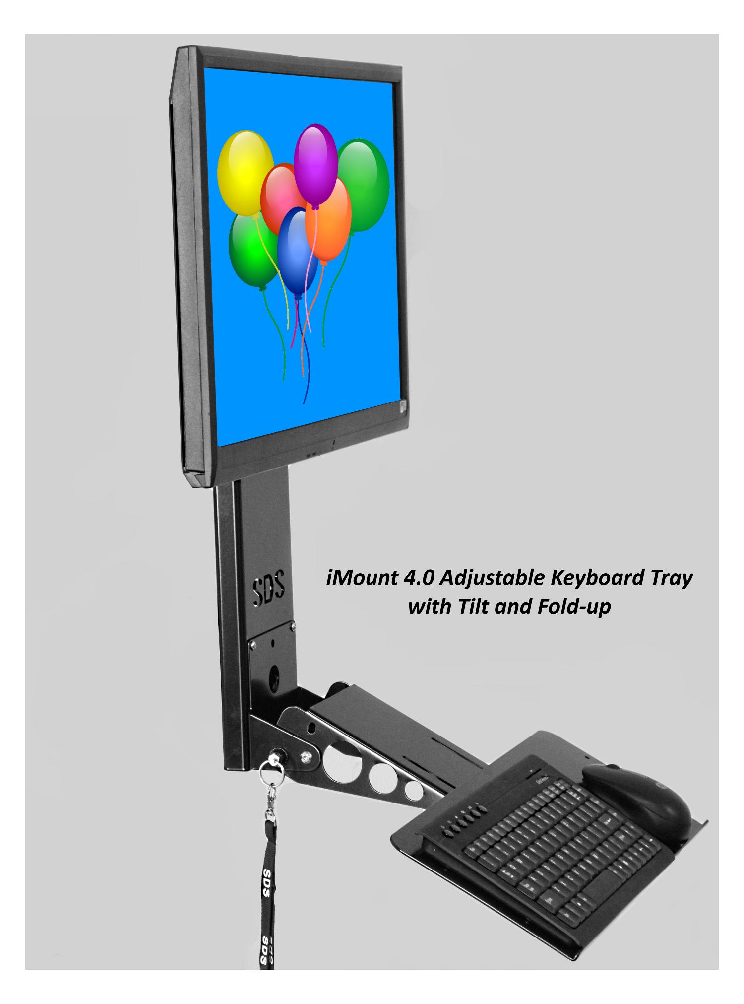 Imount 4 0 Adjustable Vesa Monitor Amp Keyboard Mounting